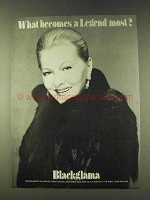 1979 Blackglama Fur Ad - Joan Fontaine