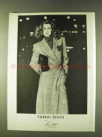 1979 Giogio Armani Fashion Ad - Lily Simon