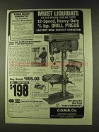1979 C.O.M.B. Milwaukee Pneumatic Drill Press Ad