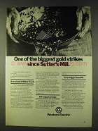 1979 Western Electric Ad -  Gold Strikes Sutter's Mill