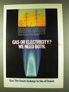 1979 AGA American Gas Association Ad - Gas Electricity