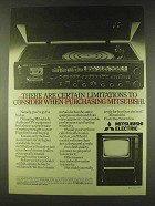 1979 Mitsubishi Music Centre MC7500 & CT2001BM TV Ad