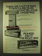 1979 Pioneer SX-780 Receiver Ad - A Lot of Ways