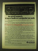 1979 Hitachi Digital 1 Car Radio Ad - As You'd Expect