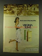 1979 Virginia Slims Cigarettes Ad, Back Seat To Husband