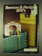 1979 Benson & Hedges 100's Cigarettes Ad - Your Style