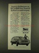 1979 Thrifty Rent-a-car Ad - America's Thriftiest