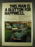 1979 Volvo Cars Ad - A Glutton for Happiness