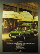 1979 Chrysler Matra Rancho Ad - Being Noticed