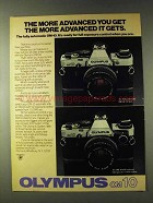 1979 Olympus OM-10 Camera Ad - More Advanced You Get