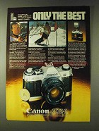 1979 Canon AE-1 Camera Ad - Jean-Claude Killy