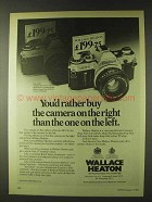 1979 Wallace Canon AE-1 Camera Ad - Rather Buy