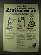 1979 New York Life Insurance Ad - $500,000 Estate
