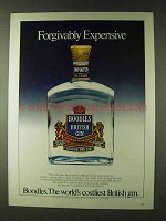 1979 Boodles Gin Ad - Forgivably Expensive