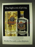 1979 Boodles Gin Ad - The High Cost of Giving