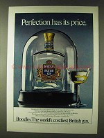 1979 Boodles Gin Ad - Perfection Has Its Price