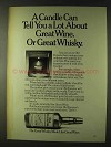 1979 Old Forester Whisky Ad - A Candle Can Tell a Lot