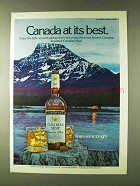 1979 Canadian Mist Whisky Advertisement - At Its Best