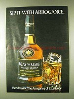 1979 Seagram's Benchmark Bourbon Ad - With Arrogance