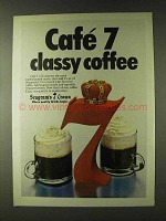 1979 Seagram's 7 Crown Whisky Ad - CafŽ 7 Classy Coffee