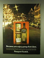 1979 Passport Scotch Ad - You Enjoy Going First Class