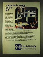 1979 Harris 1680 Distributed Data Processing System Ad