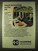 1979 Harris Computer System Ad - Technology on the Job