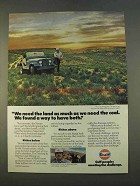 1979 Gulf Oil Ad - Need The Land As Much as The Coal