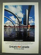 1979 Ontario Canada Ad - Make a Splash