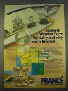 1979 France Tourism Ad - Spring in Western Loire