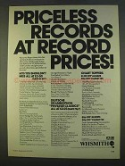1979 WHSMith Record Albums and Cassettes Ad - Priceless