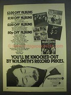 1979 WHSmith Record Albums Ad - Be Knocked Out