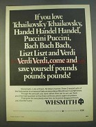 1979 WHSmith Record Albums Ad - If You Love