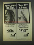 1979 Sears Steel Belted Radial Tires and Shocks Ad