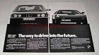 1979 BMW Cars Ad - Way to Drive Into the Future