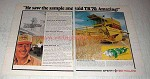 1978 Sperry New Holland TR70 Combine Ad - Amazing