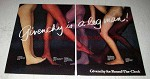 1978 Givenchy Pantyhose Ad - 500 G's, Plumage