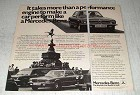 1978 Mercedes-Benz Cars Ad - Performance Engine