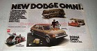 1978 Dodge Omni Ad - Totes the Tots