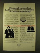 1979 Roche Vitamins Ad - So Much Concern About Health