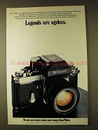 1979 Nikon F2 Camera Ad - Legends are Ageless