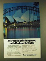 1979 Air New Zealand Ad - Catch Madame Butterfly