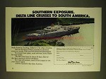 1979 Delta Line Cruises Ad - Southern Exposure