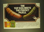 1979 Oscar Mayer Hot Dogs and Claussen Pickles Ad