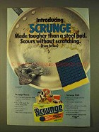 1979 Johnson Wax Scrunge Sponge Ad - Tougher