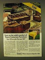 1979 Sears Centurion Furniture Sofa Ad - Solid Comfort