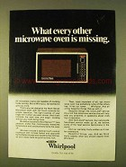 1979 Whirlpool Mark Series Microwave Oven Ad
