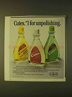 1979 Cutex Polish Remover Ad - #1 for Unpolishing