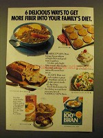 1979 Nabisco 100% Bran Ad - 6 Delicious Ways