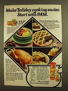 1979 Pam Cooking Spray Ad - Holiday Yam Bake Recipe